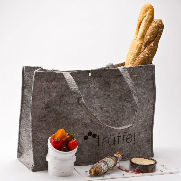 Präsenttasche für das Frühstück